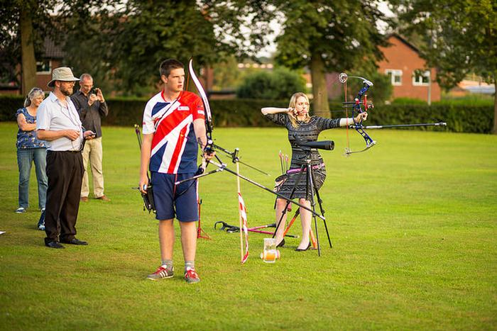 Danielle and Jacob took part in a 70m shoot-out