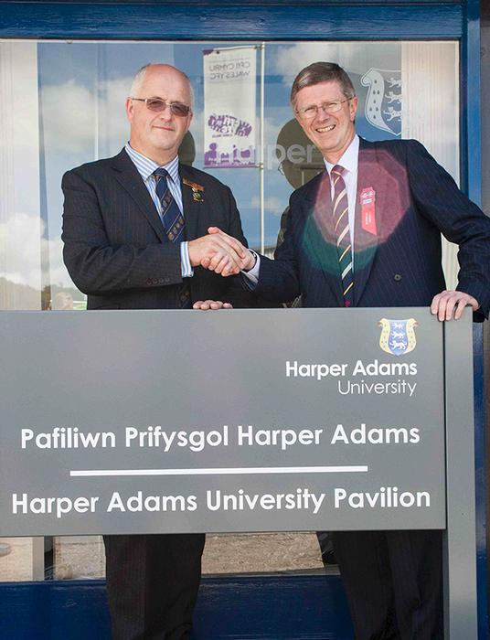 Dr David Llewellyn and John Davies at the Pavilion renaming