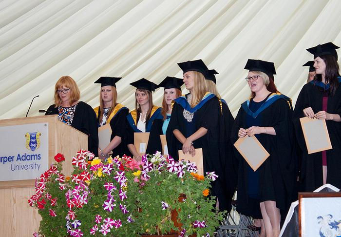 Veterinary nurses swearing the professional oath - full group photo below.