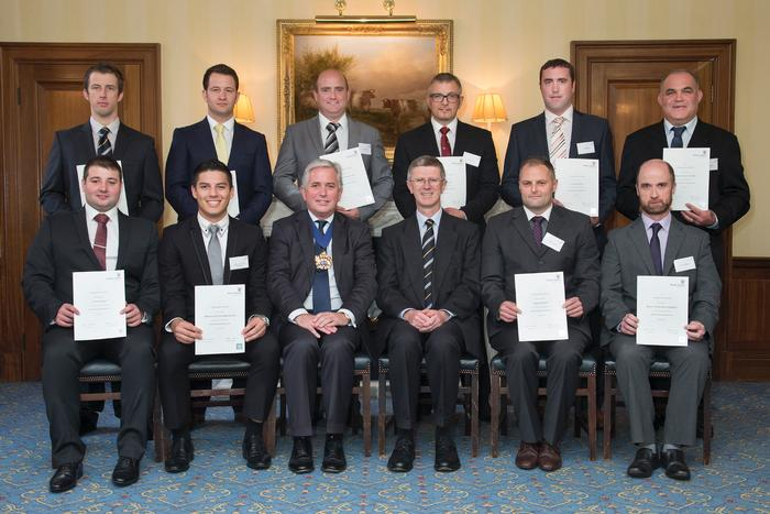 The graduates attended an event at the Butcher's Hall in London