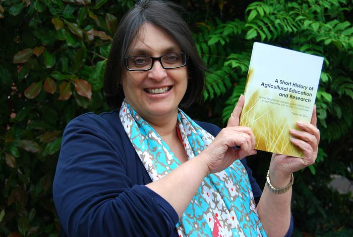 Principal Lecturer, Carrie de Silva, who is also the author of a book about the history of agricultural education and research
