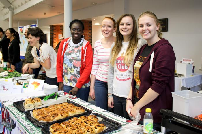 Students selling pastries at the event last year