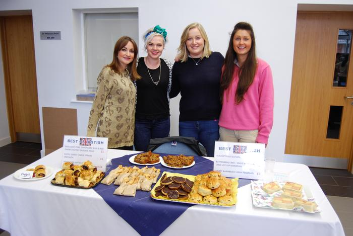 Rachel Brookes, Helen Foster, Antonia Evans and Nicola Davies made cakes and pastries with a British theme