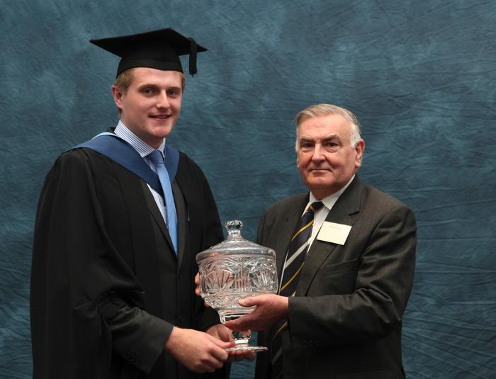 David Boyd, BSc (Hons) Agriculture, is awarded the Poultry Industry Education Trust (PIET) Award by trust secretary Basil Bayne, for outstanding performance in poultry-related studies.