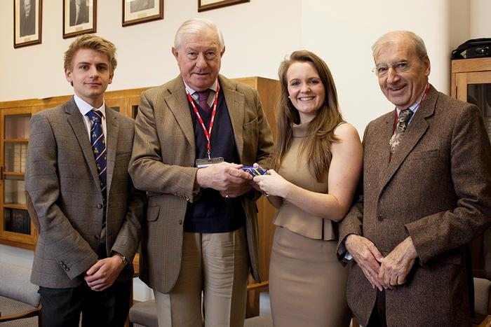 L-R, Edward Wilkinson, Peter Geldart, Katie Poulter and Neil Mainwaring