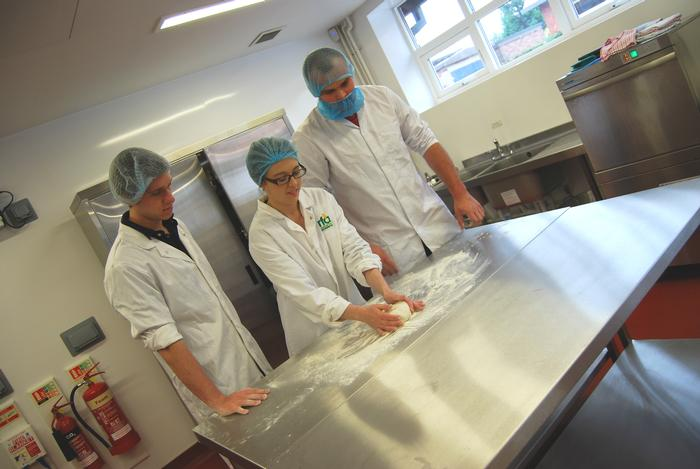 Food students working in the Regional Food Academy on campus