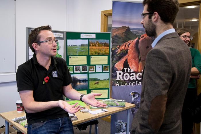 Jeff Sim, Staffordshire Wildlife Trust, chats about work opportunities