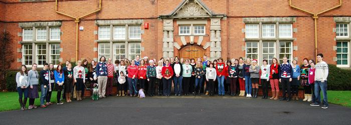 Staff and students wore Christmas jumpers to raise £130 for Save the Children
