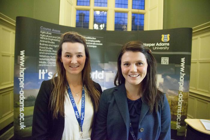 Chloe Cross and Kenna Murdoch at the Oxford Farming Conference