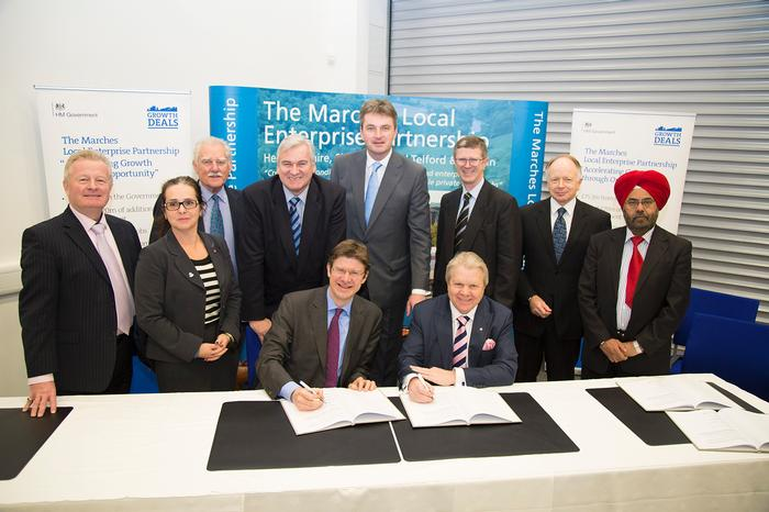 The signing of the Marches LEP Growth Deal