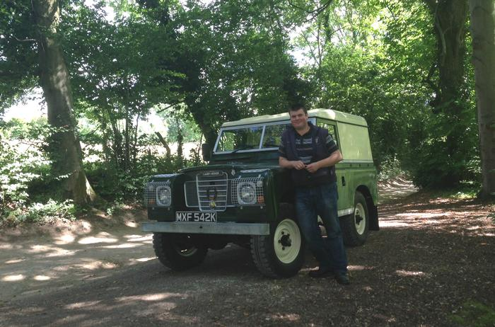 Alex with his Land Rover