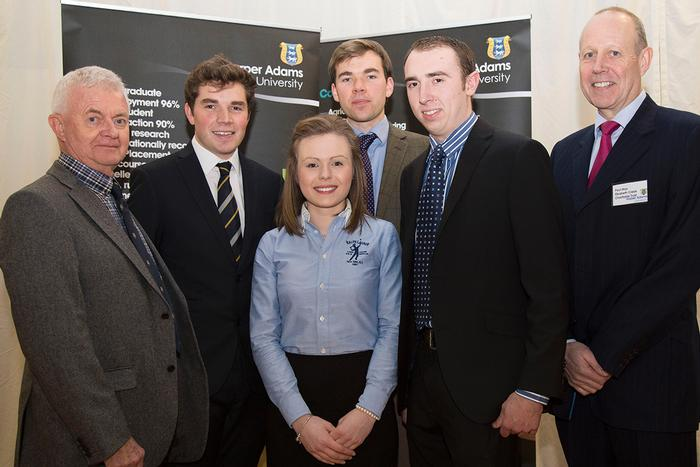 Clyde Higgs Undergraduate Scholars with trustees John Hulse and Paul May
