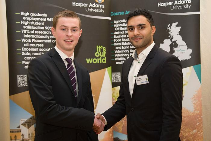 Scholar William Taylor, with Rishi Sethi from Rabobank