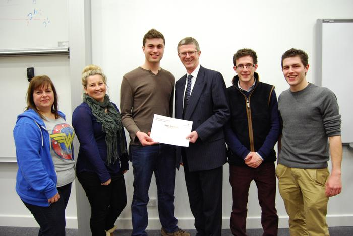 The 'Best Picture' winning group with Vice-Chancellor, Dr David Llewellyn