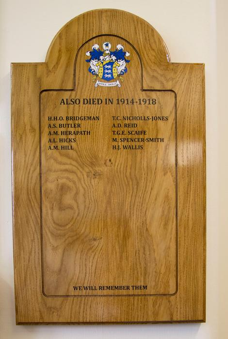 The new memorial board