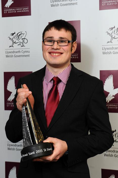 Richard Davies with his award