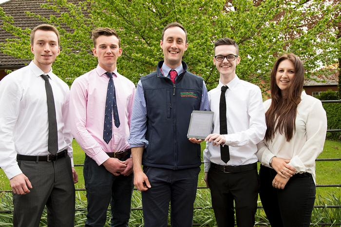 Highly Commended: James Snow, James Cormie, Adam Harper, Jack Dickinson and Rowena Minney