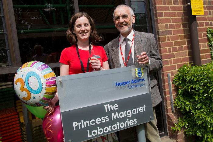 Current Laboratories Manager Dr Victoria Talbot, and retired Laboratories Manager John Clement (1997-2007) at today's celebration