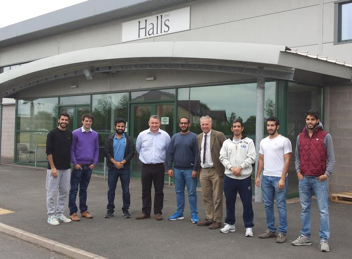 The visit to Halls Machinery