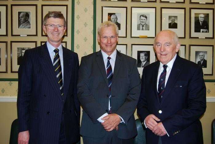 Vice-Chancellor, Dr David Llewellyn; David Evans and Peel Holroyd