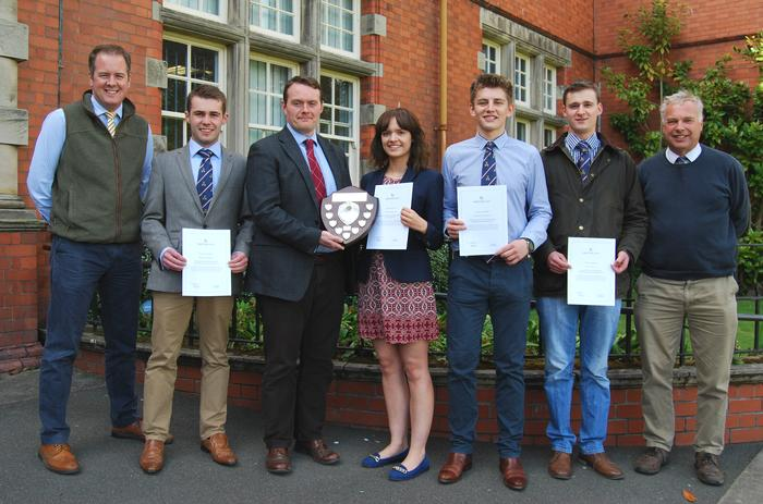 The winning students with Steve Farrow and lecturers Andrew Black and Simon Keeble