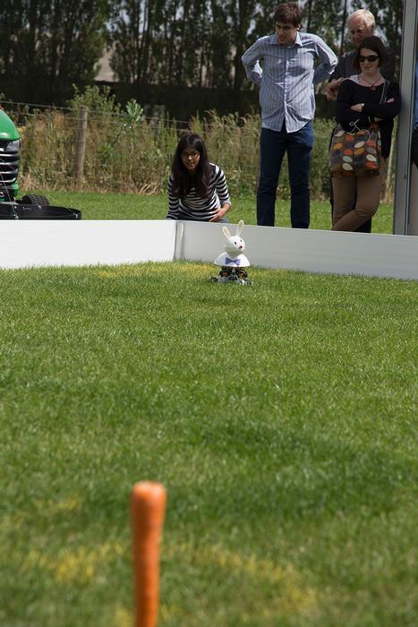 Winner Anjuli Bali testing the Rover Rabbit