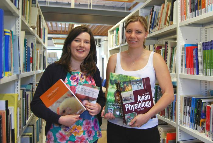 Postgraduate students Rachel Glover and Claudia Batist