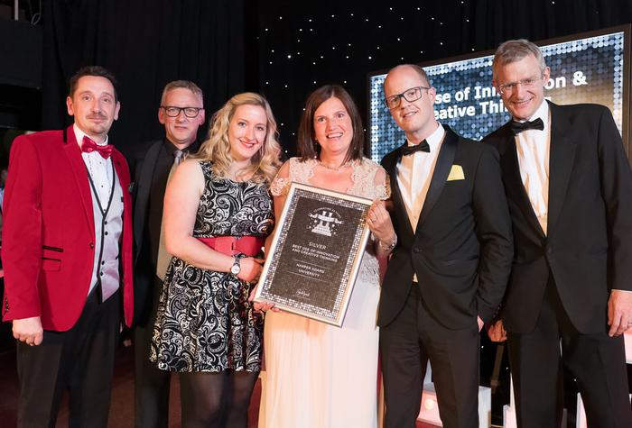 Harper Adams won silver for innovation and creative thinking at the Heist Awards 2015