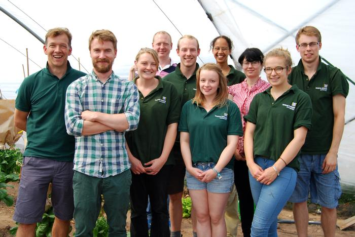 Students, staff and researchers from the Fresh Produce Research Centre