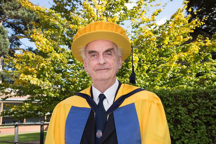 A second honorary doctorate was presented to Professor Hugh Pennington