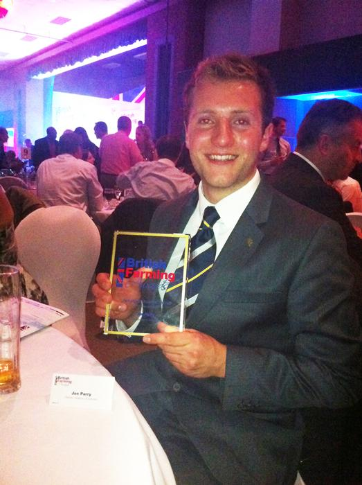 Joe Parry after his win at the British Farming Awards last night