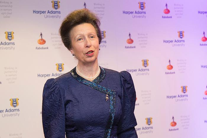 Harper Adams University Chancellor, HRH The Princess Royal, speaks at the reception in London