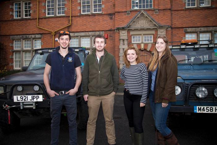 L-R, Jack Thorman, Chris Green, Paige Mather and Hannah Gill. Students not pictured are away on work placement.