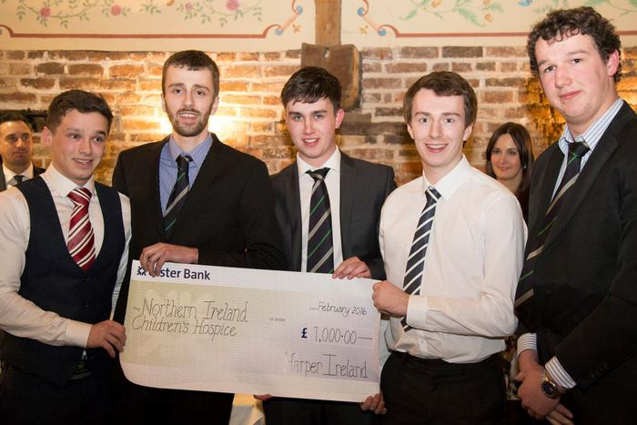The cheque presentation for Northern Ireland Children's Hospice