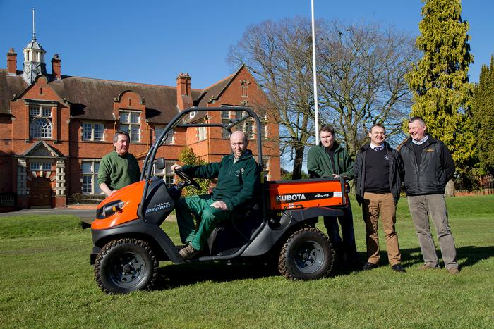 The Kubota RTV is delivered to the grounds team