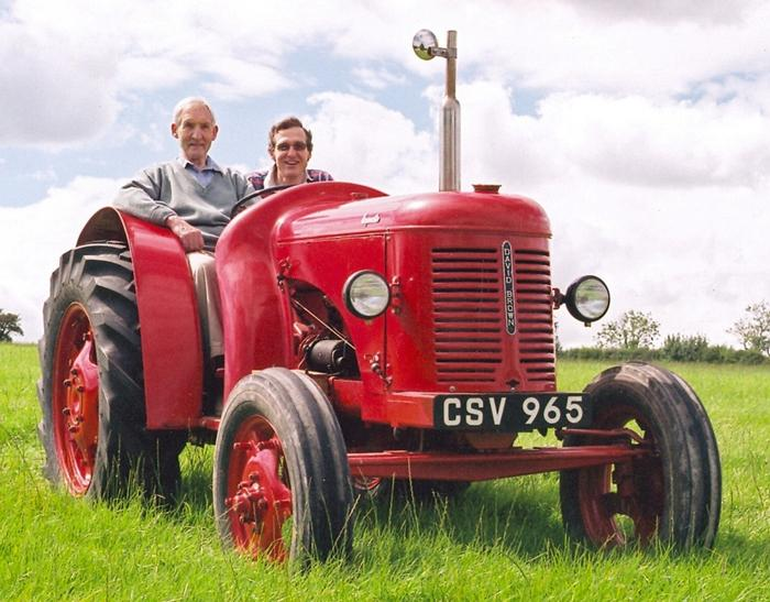 David and Alastair Lawson worked together to restore a 1950 David Brown Cropmaster