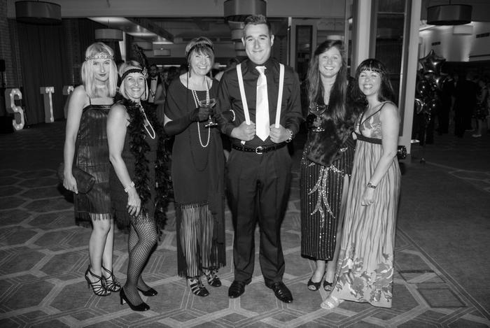The team at the 1920s themed event