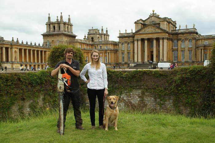 Christian and fellow Harper Adams graduate Ellie Exelby at Blenheim Palace