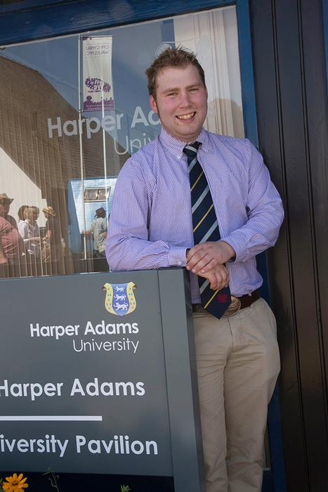 Alex at the Harper Adams University Pavilion during the Royal Welsh Show