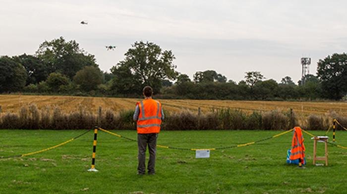 The helicopter flew past on a training sortie to ascertain how easy it was to see the drone