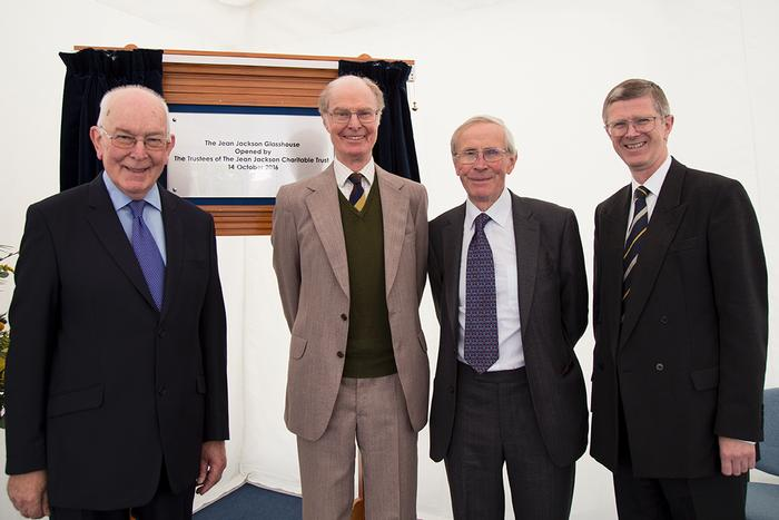 Trustees Harvey James, Lionel Jebb and John Thorneycroft with University Vice Chancellor Dr David Llewellyn