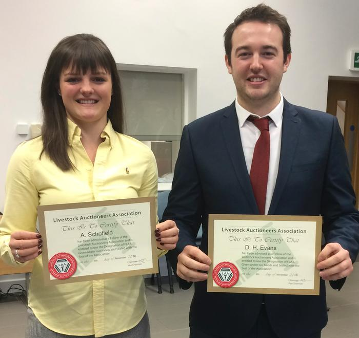 Annis Schofield and Hywel Evans graduating from England and Wales