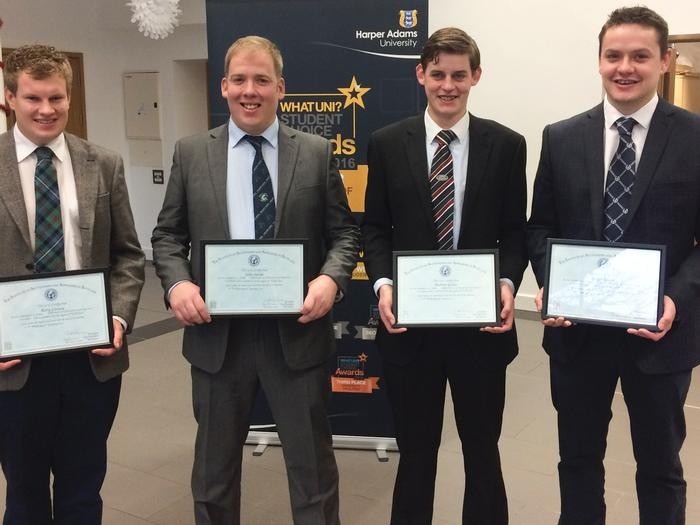 Rory Livesey, John Smith, Andrew Goldie and Gregor Bordie, graduating from Scotland. Pictures by Charles Cowap.
