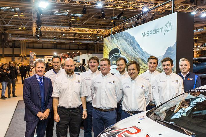 The team with Malcolm Wilson OBE