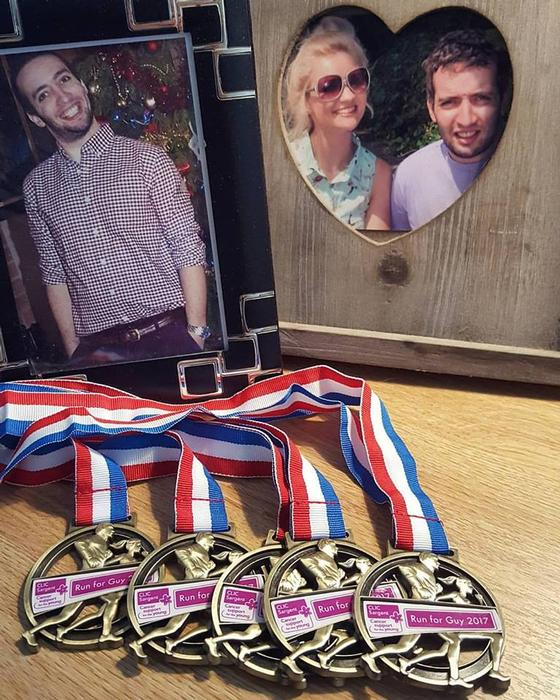 Medals have been made for Run for Guy participants