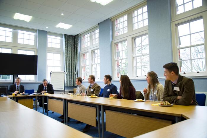 The NFU President chatted with students over lunch