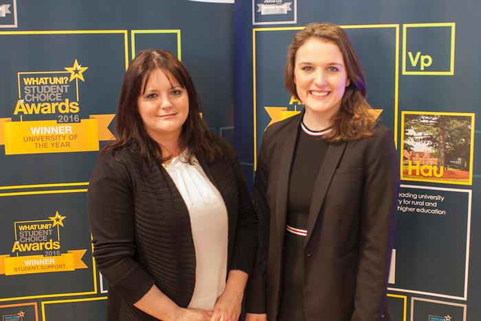 Rachel Carroll (right) with Business Support Services Manager Lisa Plant