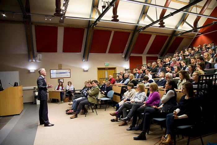 The Regional Food Academy lecture theatre was full for the lunch time talk