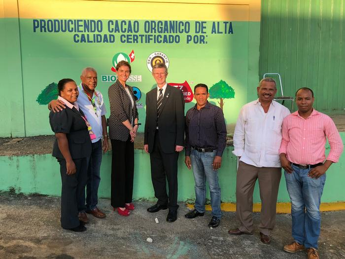 The CONACADO cacao production facility in Yamasa, Dominican Republic