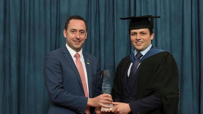 Alltech Award recipient, and current RABDF Dairy Student of the Year, Richard Beattie BSc Honours Agriculture